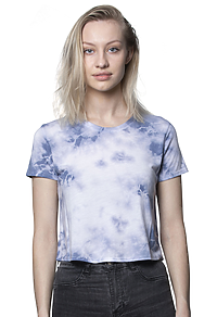Weekend Cloud Tie Dye Boxy Crop